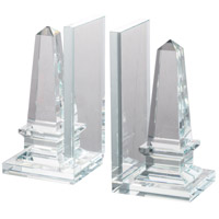 Tower 8 inch Clear Bookends