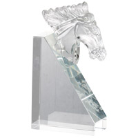 Glass 5 inch Clear Bookends