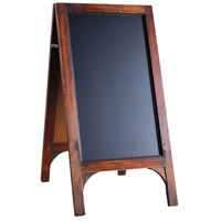 Tratteria Medium Brown and Black Blackboard Stand