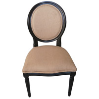 Adrien Beige and Espresso Chair