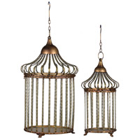 A&B Home AV42548 Danby Gold and Brass Hanging Cages, Set of 2