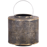Raj 13 X 12 inch Weathered Gold Patio Candle Lantern