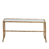 Anita 36 X 17 inch Antique Gold Coffee Table
