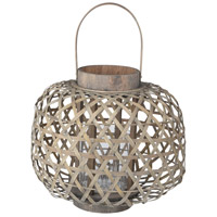 Coconio Wood Lattice 14 inch Brown Patio Candle Lantern