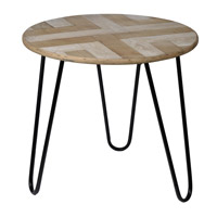Prescott 22 inch Brown and Black Coffee Table