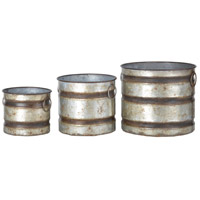 Shelburne Weathered Gray Planter, Set of 3