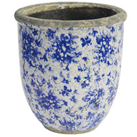 Lilibeth Blue and White Planter