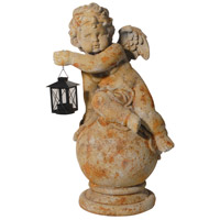 A&B Home D75032 Gavreel Rustic Angel Sculptural Accent with Lantern