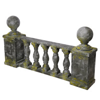 A&B Home D76488 Ever Gated Slate Gray and Green Outdoor Accent