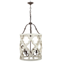 A&B Home DS40116 Jolette 19 inch Distressed White Chandelier Ceiling Light