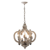 A&B Home DSDT38552 Signature 21 inch Antique White Chandelier Ceiling Light