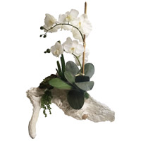 Real Touch Orchid on Branch Cream Faux Botanical