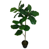 Potted Fiddle Leaf Tree Dark Green Faux Botanical