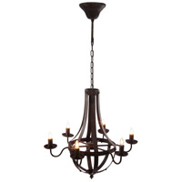 A&B Home FD38576 Signature 25 inch Antique Black Chandelier Ceiling Light