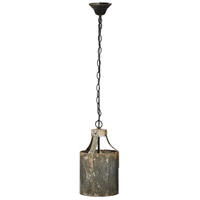 A&B Home DSHP38991 Dane 8 inch Antique Iron and Black Chandelier Ceiling Light