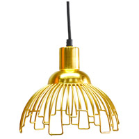 A&B Home HP40637 Florence 9 inch Gold Pendant Ceiling Light