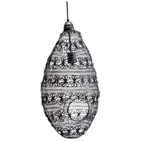 A&B Home HP40639 Florence 10 inch Black Pendant Ceiling Light