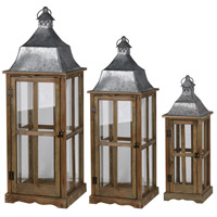 A&B Home HP42240 Window 35 X 13 inch Brown Patio Candle Lanterns, Set of 3 photo thumbnail
