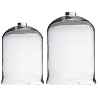 Open-Top Clear Glass Dome, Set of 2