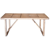 Solid 71 X 29 inch Natural Outdoor Dining Table