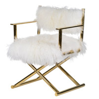 Mongolian White and Gold Director's Chair