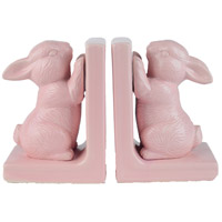 Flora 6 inch Cotton Candy Pink Bookends, Set of 2