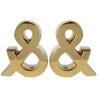 Urban 7 inch Gold Bookends, Set of 2