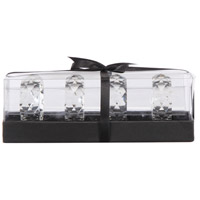 Napkin Clear Napkin Ring Box, Set of 4