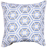 A&B Home T37970-BLUE Embroidered 20 inch White and Blue Pillow photo thumbnail