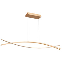 Wishbone 3 Light 2 inch Soft Gold Pendant Ceiling Light in 2in