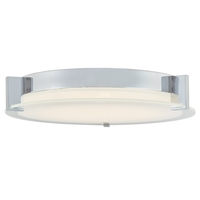 Abra Lighting 30010FM-CH Matrix LED 12 inch Chrome Flush Mount Ceiling Light