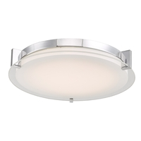 Abra Lighting 30011FM-CH Matrix LED 14 inch Chrome Flush Mount Ceiling Light