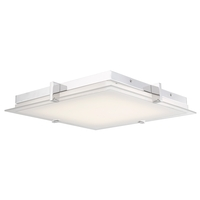 Abra Lighting 30013FM-CH Matrix LED 15 inch Chrome Flush Mount Ceiling Light