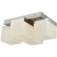 Abra Lighting 30055FM-BN Cubic LED 9 inch Brushed Nickel Flush Mount Ceiling Light