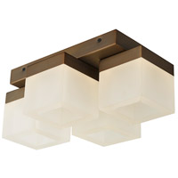 Abra Lighting 30055FM-BZ Cubic LED 9 inch Bronze Flush Mount Ceiling Light