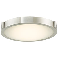Abra Lighting 30066FM-BN Halo LED 13 inch Brushed Nickel Flush Mount Ceiling Light
