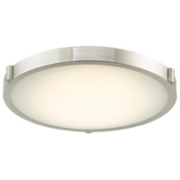 Abra Lighting 30067FM-BN Halo LED 17 inch Brushed Nickel Flush Mount Ceiling Light