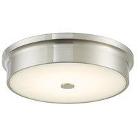 Abra Lighting 30097FM-BN Spark LED 12 inch Brushed Nickel Flush Mount Ceiling Light