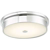 Abra Lighting 30097FM-CH Spark LED 12 inch Chrome Flush Mount Ceiling Light