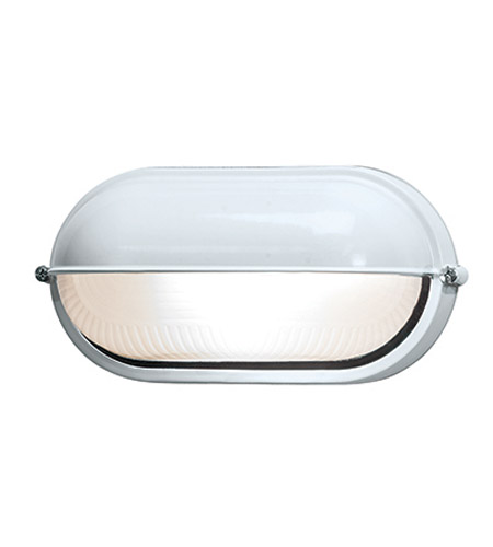 Access Lighting Nauticus 1 Light Outdoor Flush Mount in White 20291-WH/FST photo