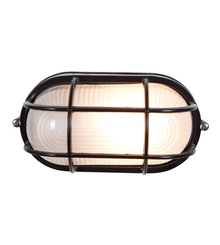 Access Lighting Nauticus 1 Light Outdoor Flush Mount in Black 20292-BL/FST photo