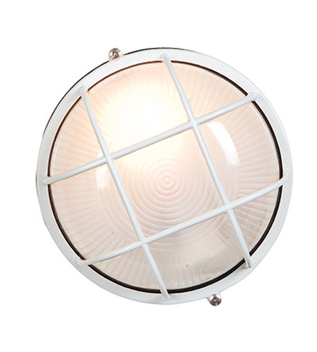 Access Lighting Nauticus 1 Light Outdoor Flush Mount in White 20294-WH/FST photo