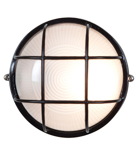Access 20296-BL/FST Nauticus 1 Light 10 inch Black Outdoor Flush Mount  photo