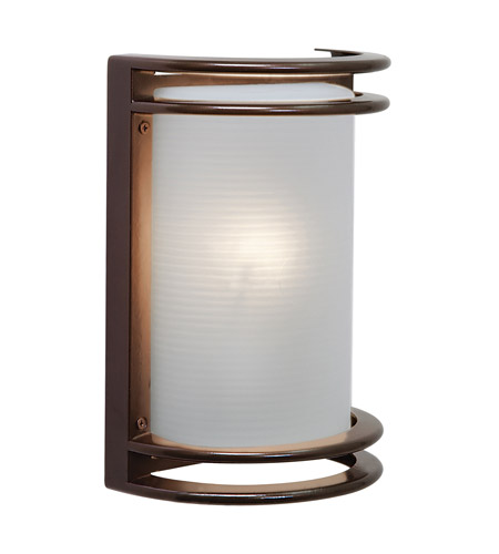 Access Lighting Poseidon 1 Light Bulkhead in Bronze with Ribbed Frosted Glass C20302MGBRZRFREN1118BS photo