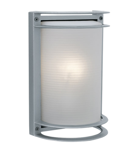 Access Lighting Poseidon 1 Light Wet Location Bulkhead in Satin with Ribbed Frosted Glass 20302LEDMG-SAT/RFR photo