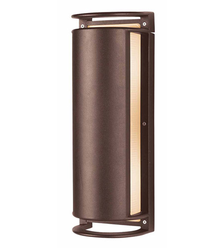 Access Lighting Poseidon 2 Light Wet Location Bulkhead in Bronze with Ribbed Frosted Glass 20343MG-BRZ/RFR photo
