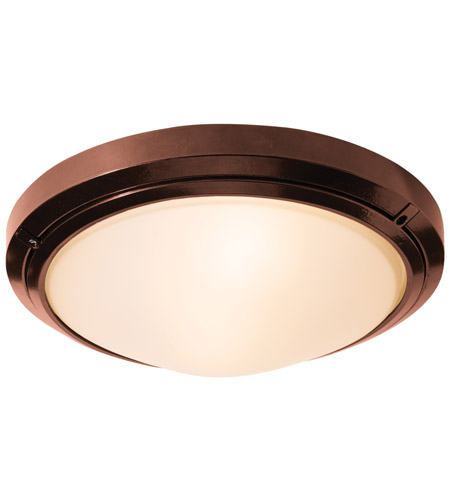 Access Lighting Oceanus 1 Light Flush Mount in Bronze 20356MGLED-BRZ/FST photo