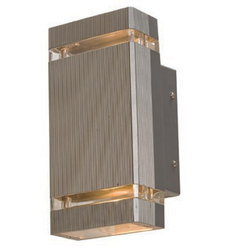 Access Lighting Beacon 2 Light Outdoor Wall in Satin 20357-SAT/CLR photo