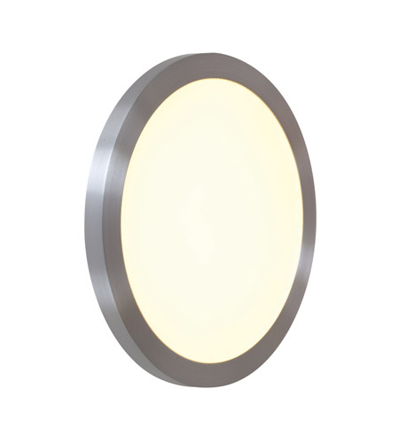 Access Lighting LEDORB 1 Light Outdoor Flush Mount in Satin 20394LED-SAT/ACR photo