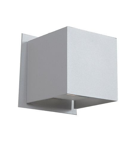 Access 20399LEDMG WH Square LED 4 Inch White Outdoor Wall Sconce
